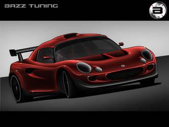Lotus Elise Racer Toon - Red