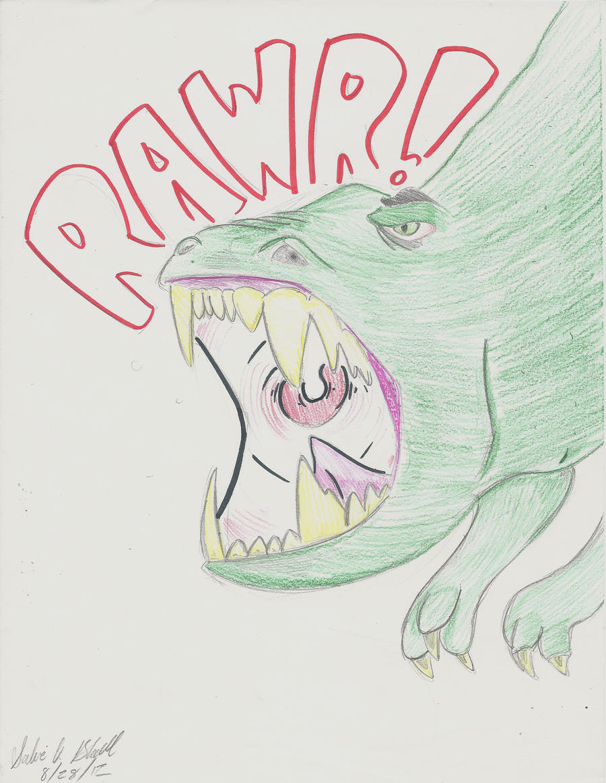 Dino Rawr by PinkuFootsie