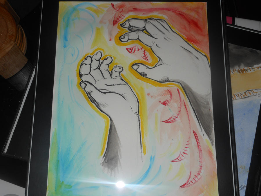 Hands of Creation by PinkuFootsie