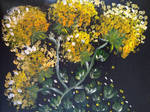 Yellow Abstract Flowers