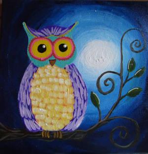 Whimsical Owl by ART-byLinda