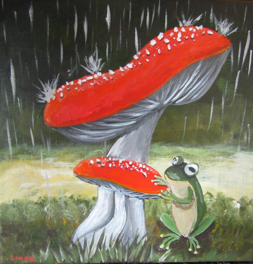 Rainy Day Frog