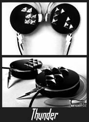 ''Thunder'' studded headphones by Ketchupize