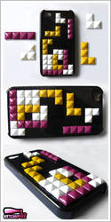 Tetris inspired studded Iphone case by Ketchupize