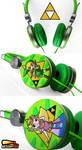 New Legend of Zelda handpainted Headphones