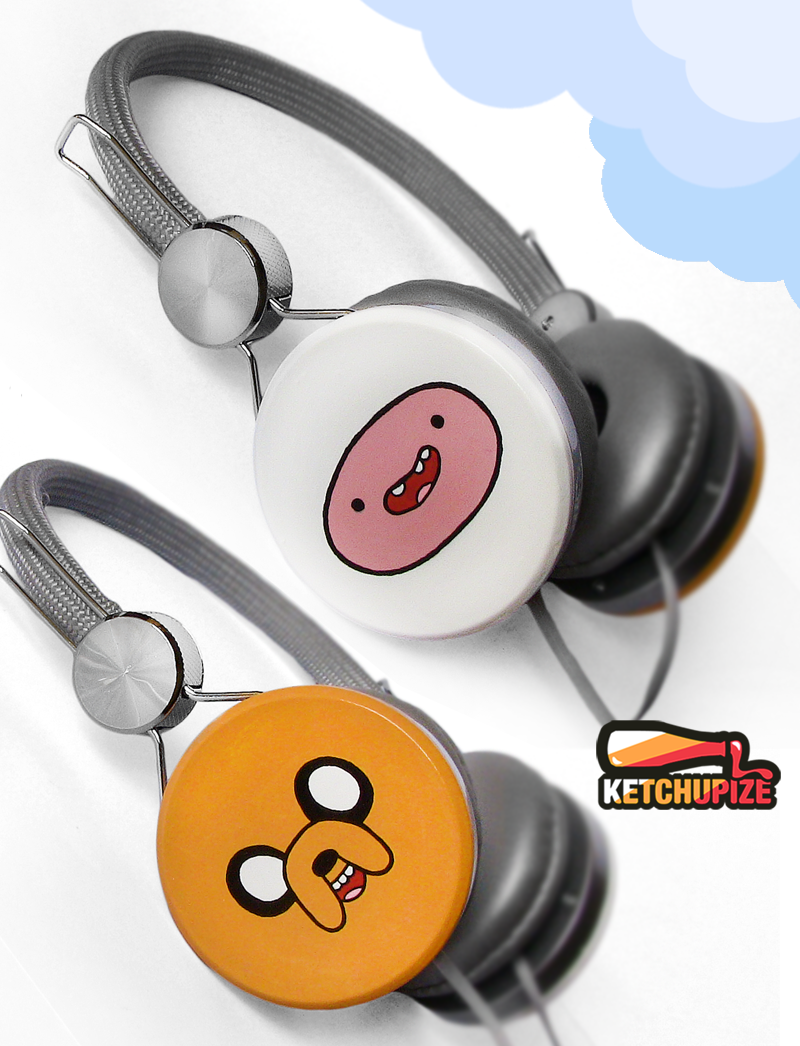 ''Adventure Time'' custom headphones by Ketchupize