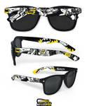 Batman hand painted sunglasses