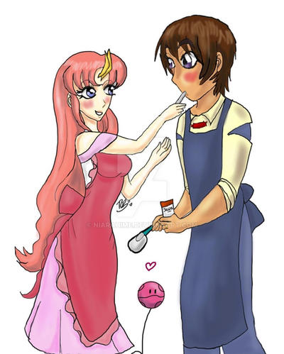Day 1: Kira and Lacus, Cooking by Niarahime