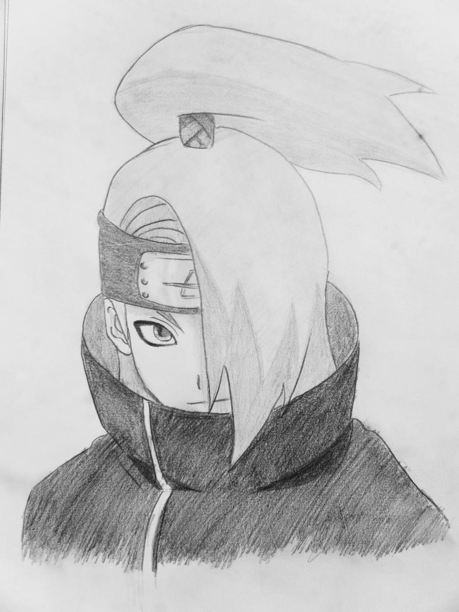 Naruto Deidara Drawing