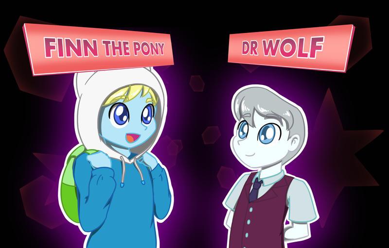 Friendship Games-Finn the Pony vs Dr Wolf by Blu-Usagi