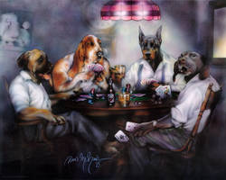 Dogs Playing Poker by DanMcManis
