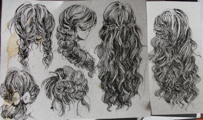 Hairstyles By Telemaniakk On DeviantArt - Drawing a hairstyle