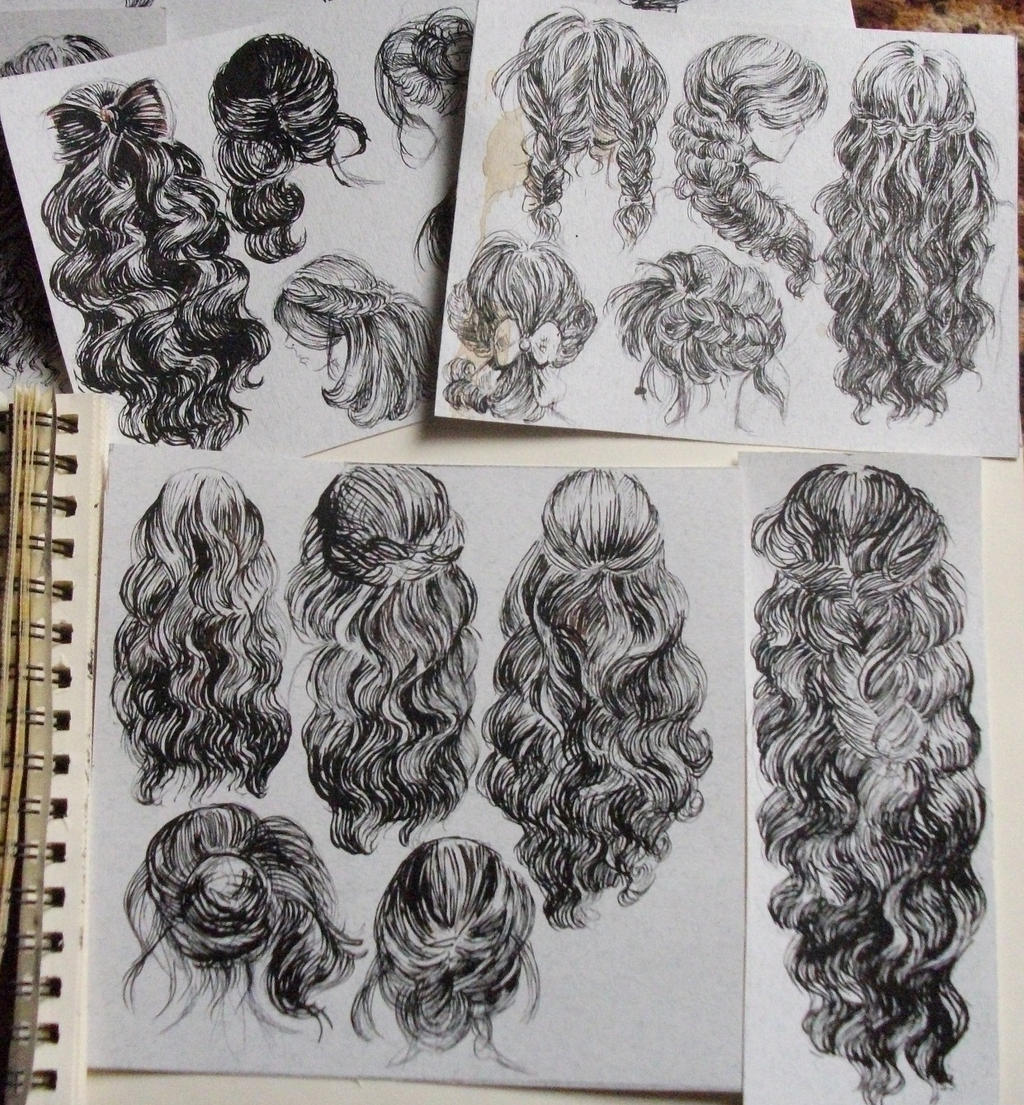 hairstyle by telemaniakk traditional art drawings portraits figures ...