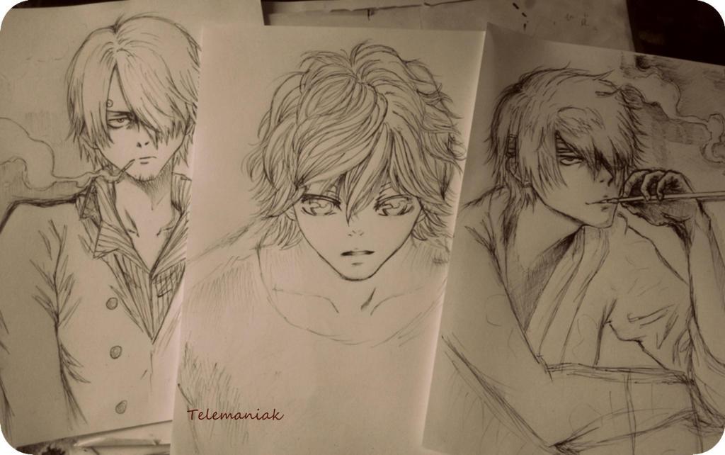 kou,sanji,Shinsuke by Telemaniakk