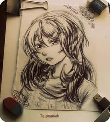 manga sketch by Telemaniakk