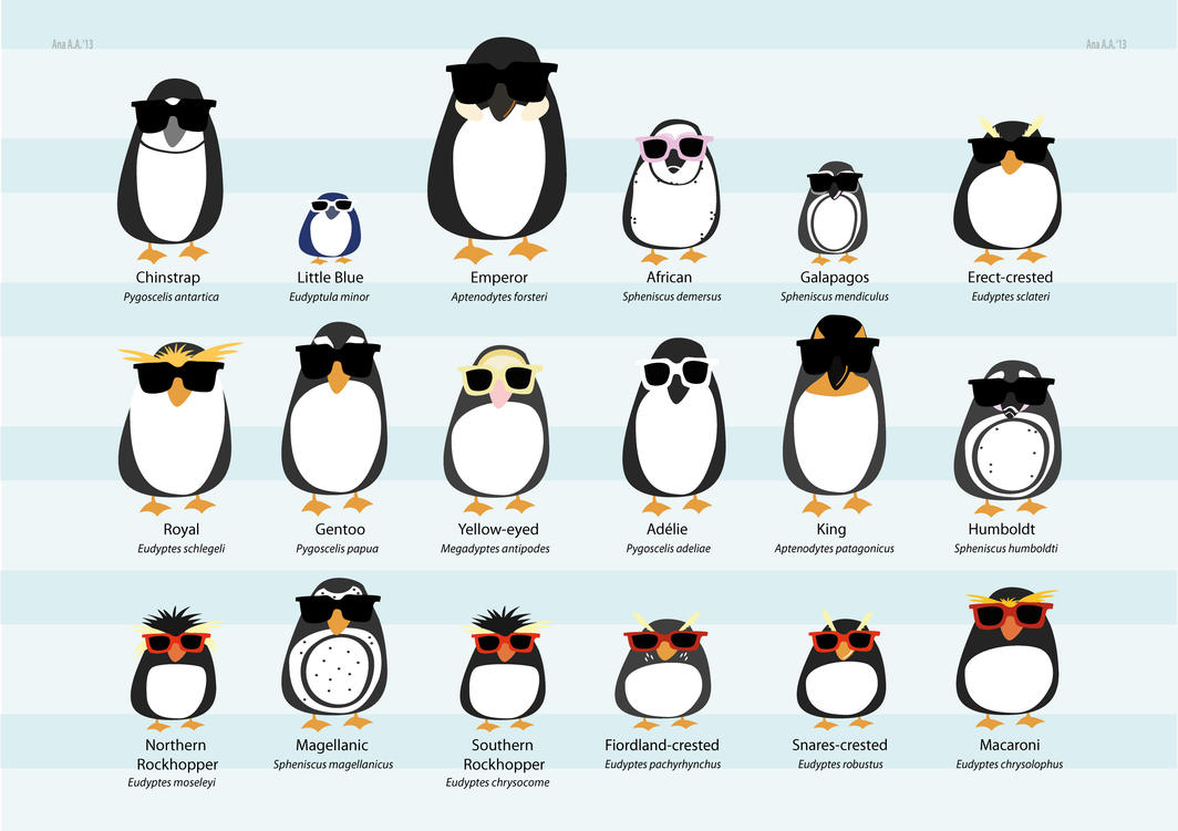 Penguin 80p List All the penguins of th...