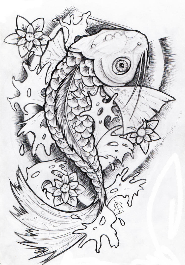 Koi Fish Coloring Pages For Adults Coloring Pages