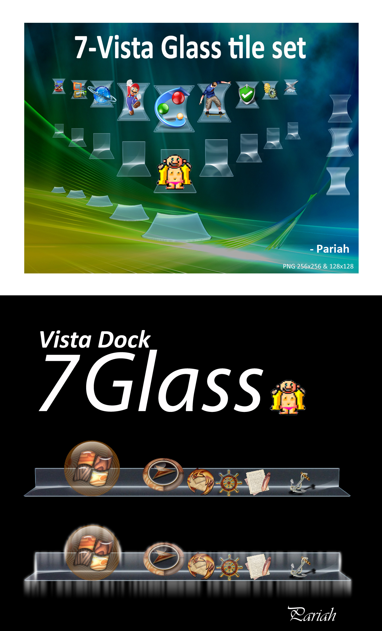 7 Glass Skin Set OD+ Vista by Pariah07