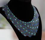 Old colors, new style: aqua seed bead necklace
