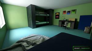 Teen Titans - Beastboy's Room by yasirzxzxzx