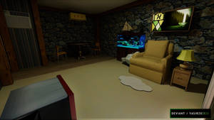 Gravity Falls - Living room by yasirzxzxzx