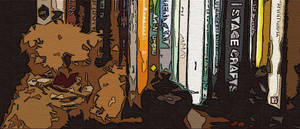 Teddy bear on a shelf by kendrin