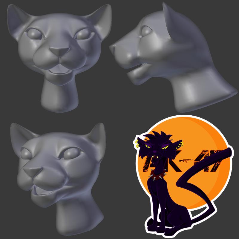 Cartoon Cat WIP by kendrin