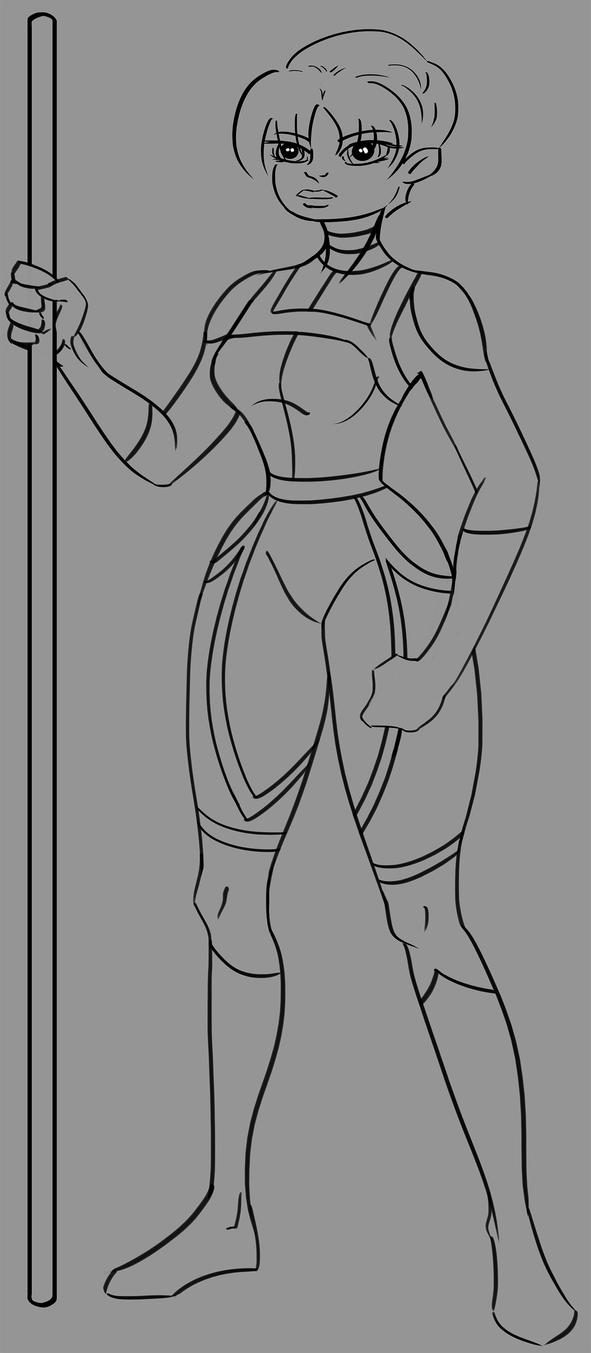 WIP - Char Concept by kendrin