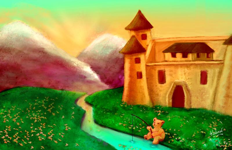 Teddy Bear Castle by kendrin