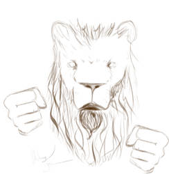 Boxing Lion