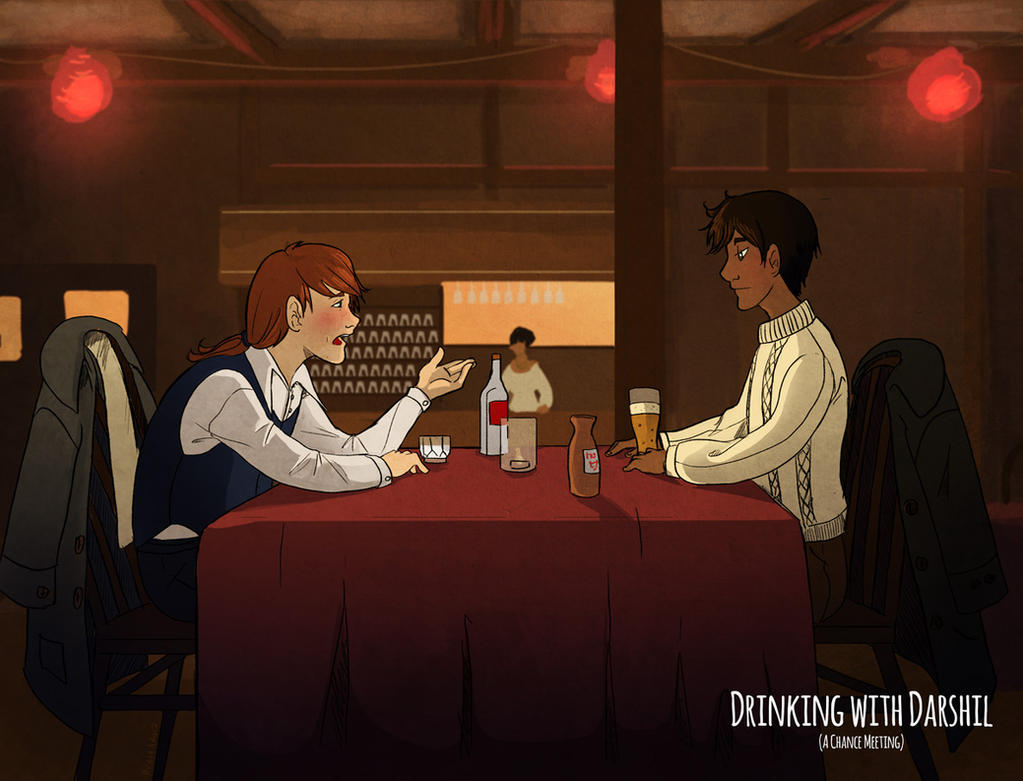 Drinking with Darshil (A Chance Meeting) by Leunbrund