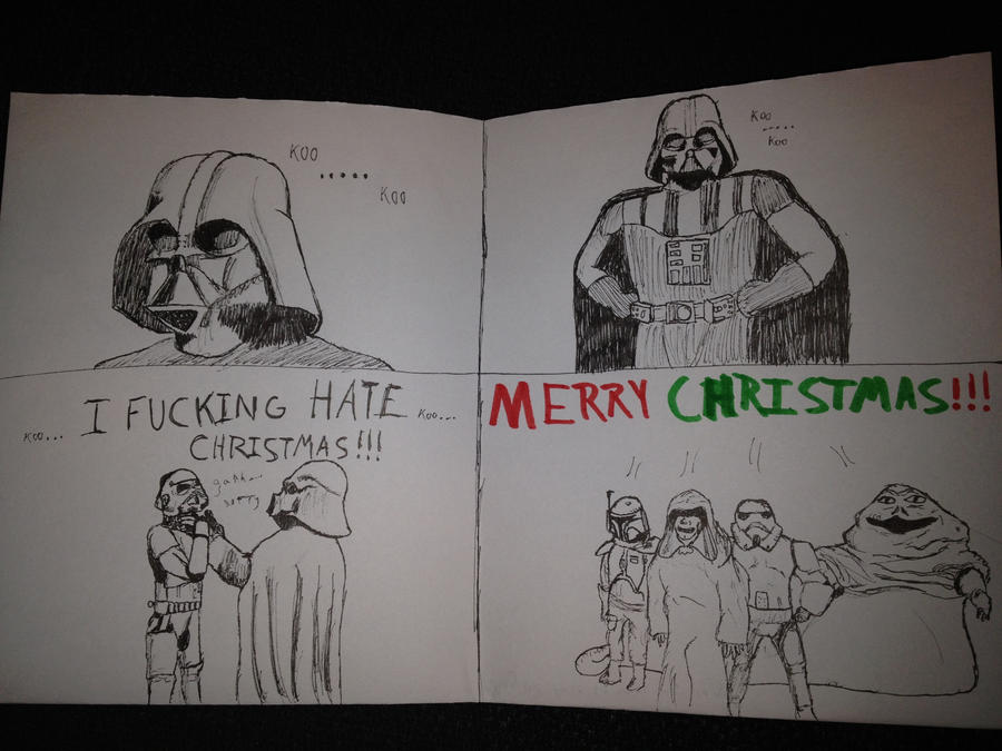 Star wars christmas card by nature fresh milk on deviantart