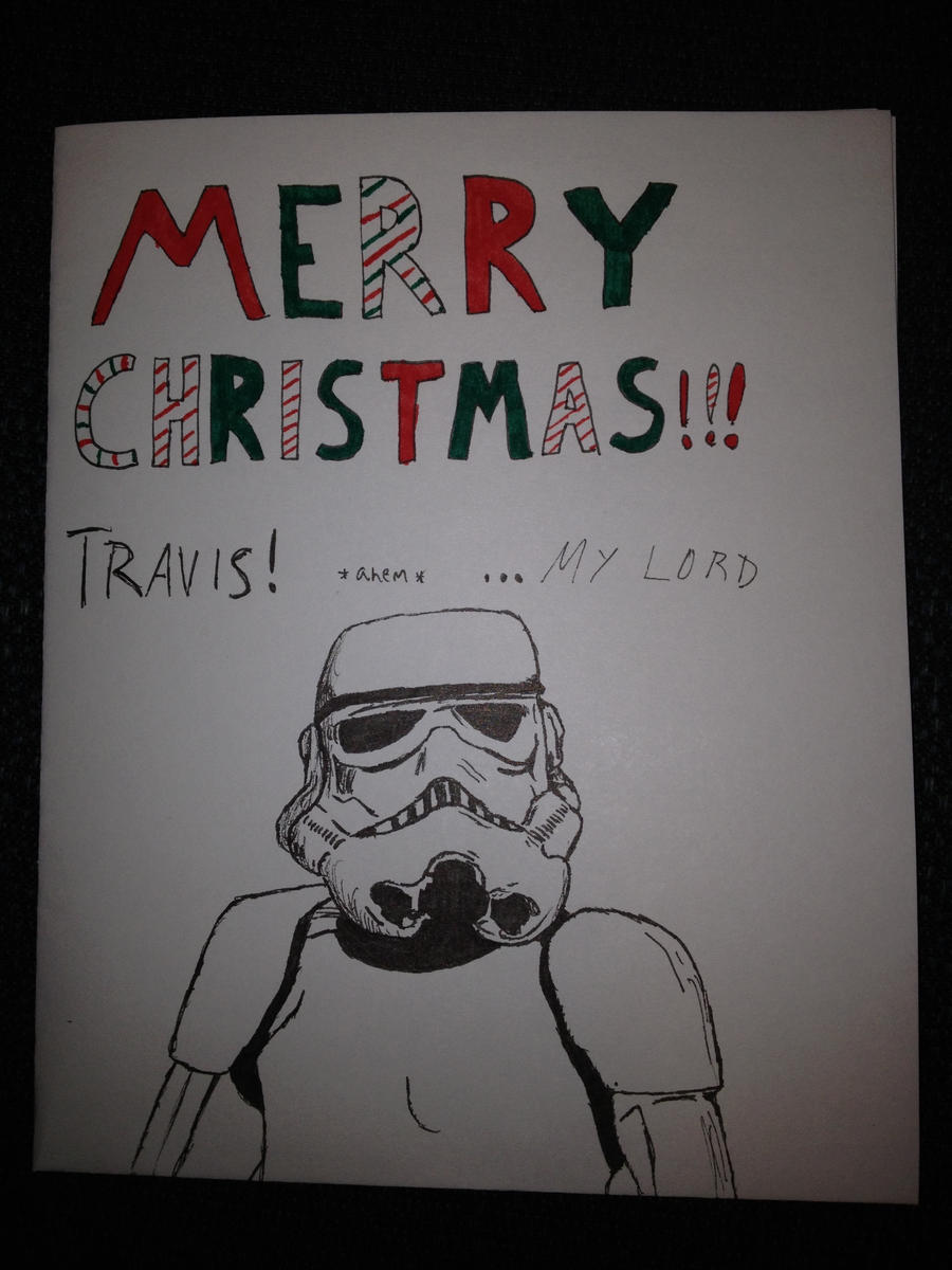 Star wars christmas card by nature fresh milk traditional art drawings