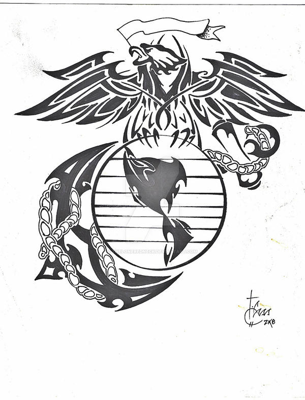 tribal marine corp logo by theloneredneck on DeviantArt
