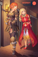 Lyse and Fordola [Commission] by Mystra77