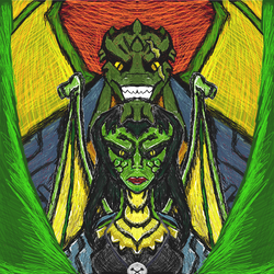 Gargoyle Family Portrait - Killer Croc and RC by dragonfire53511