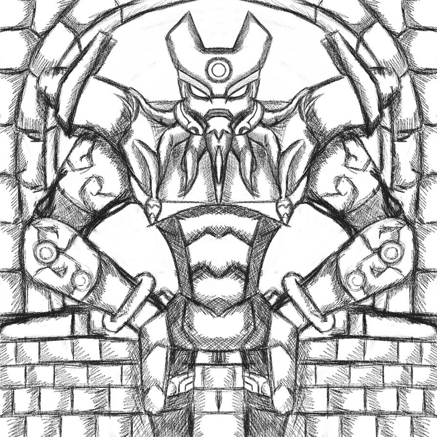 Ben 10 Omni Version Sketch - Vilgax by dragonfire53511