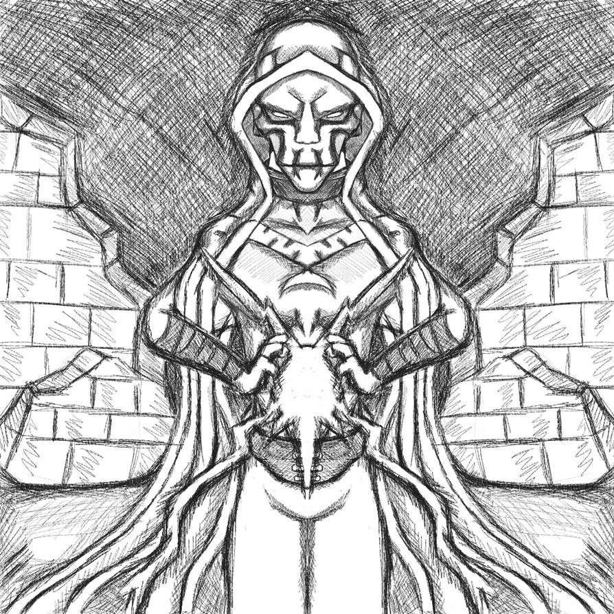 Ben 10 Villain Sketch : Hex by dragonfire53511