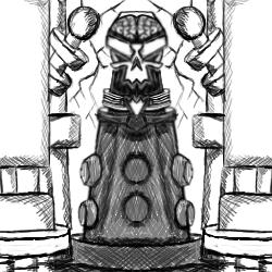 Teen Titan Villian Sketch: The Brain by dragonfire53511