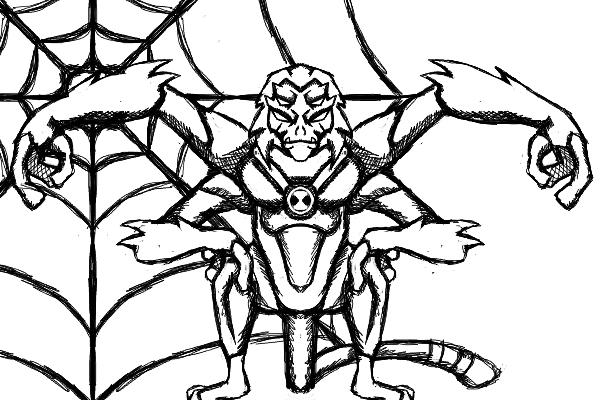 Ben 10 Aliens: Spidermonkey by dragonfire53511