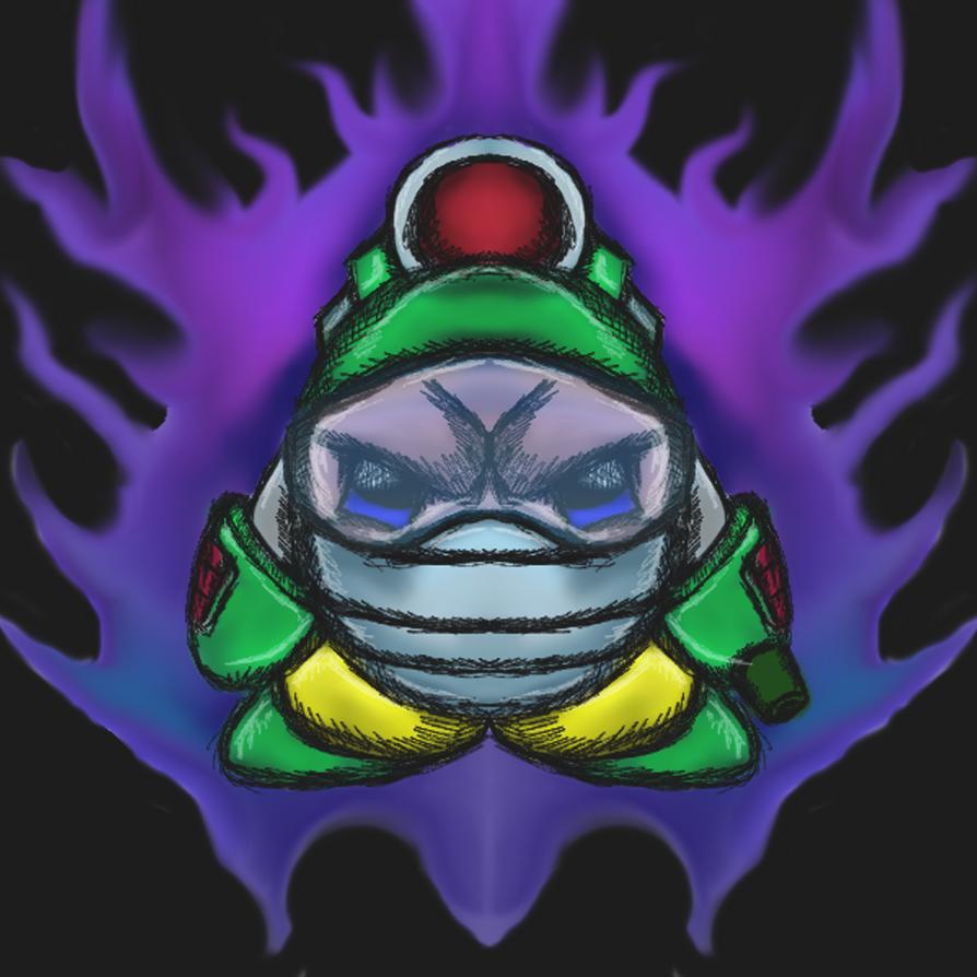 Bubble man Kirby by dragonfire53511