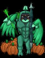 Inktober Charity Collab - Arrow - Decidueye by dragonfire53511