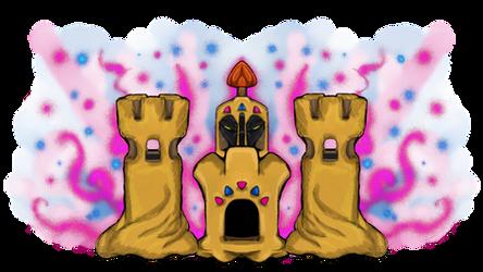Pokemon - Palossand by dragonfire53511