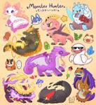 Monster Hunter chibi monster by Butapokko