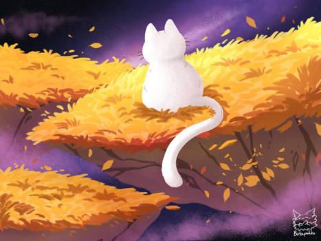 A Cat Golden Fields