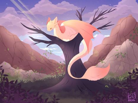 Dragon Pink Wood Landscape