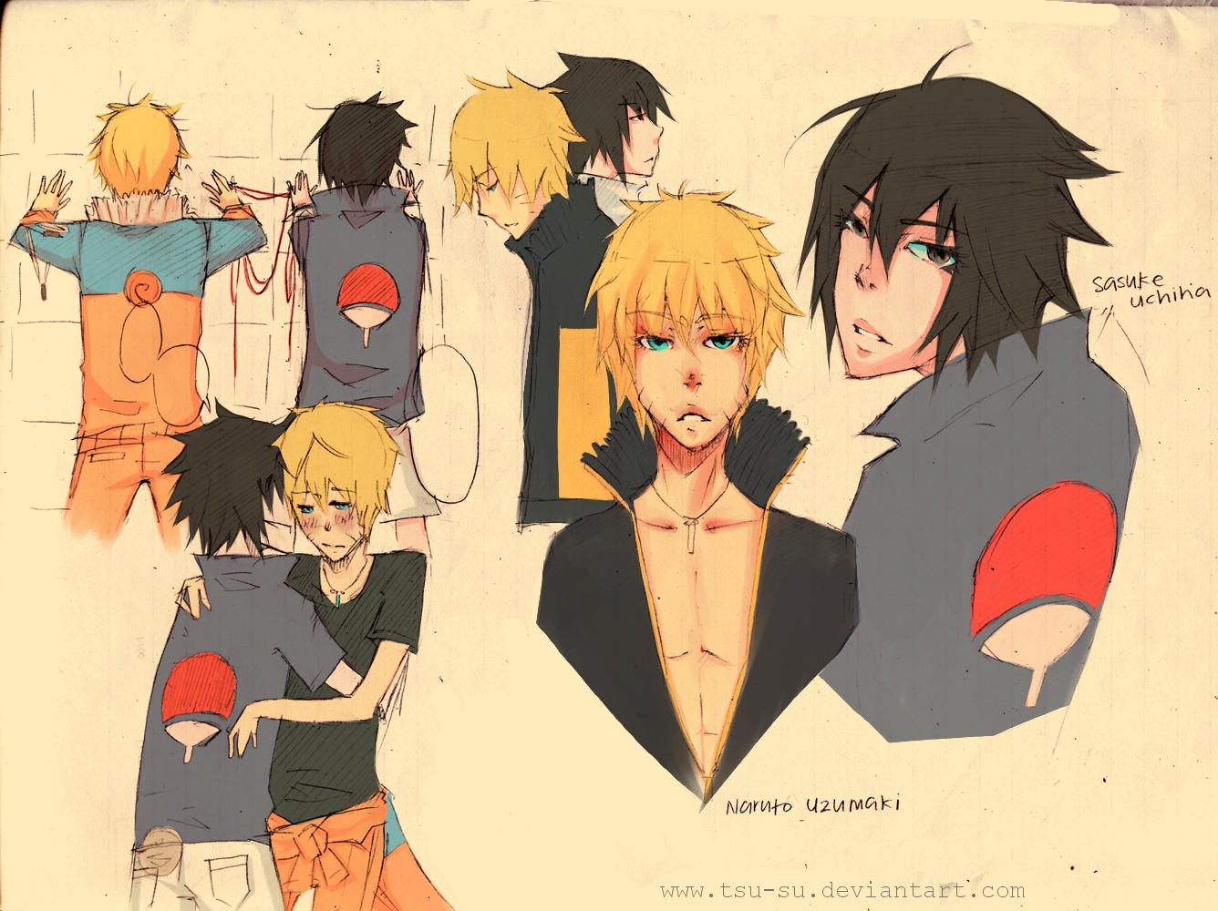 sasuke x naruto by tsu-su on DeviantArt
