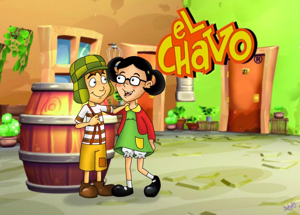 dibujos - Chavo Animado en dibujos El_chavo_y_la_chilindrina_by_re_ed-d5e938z