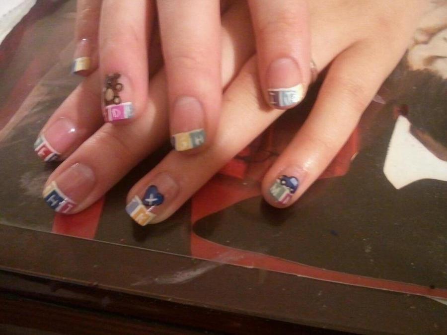Baby Shower Nails By Happynails On Deviantart