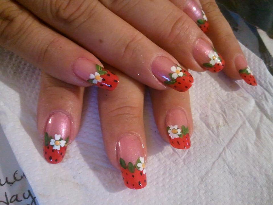 strawberry nails by Happynails on DeviantArt